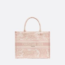Small Dior Book Tote Pink Toile de Jouy Embroidery - Bags - Women's Fashion | DIOR | Christian Dior (US)