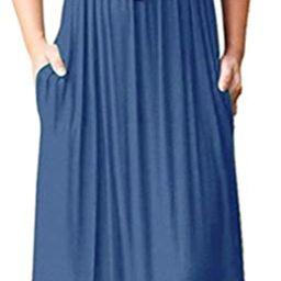 MOLERANI Women's Loose Plain Maxi Dresses Casual Long Dresses with Pockets | Amazon (US)
