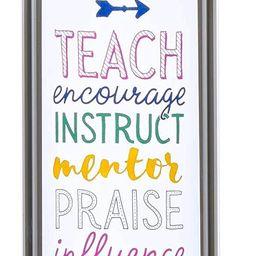 Christian Art Gifts Great Teacher Reusable Glass Water Bottle – Motivational Water Bottle for W... | Amazon (US)