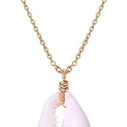 POTESSA Natural Cowrie Shell Choker Necklace for Women Pendant Hippie Adjustable Vsco Beach Jewel... | Amazon (US)