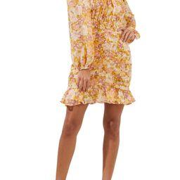 Smocked Waist Long Sleeve Minidress | Nordstrom