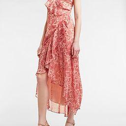 Paisley Ruffle Wrap Maxi Dress | Express