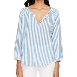 V-Neck Lur Lucy Striped Matching Blouse | Dillards