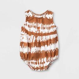 Grayson Mini Baby Girls' Tie-Dye Bubble Tank Romper - Orange   Target