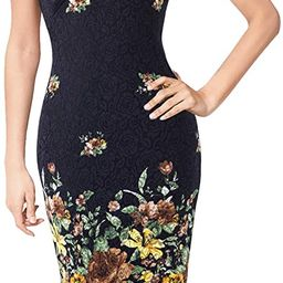 VFSHOW Womens Deep V Neck Slim Cocktail Party Night Out Pencil Bodycon Dress | Amazon (US)