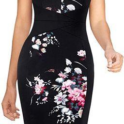 VFSHOW Womens Elegant Slim Front Zipper Work Business Office Cocktail Bodycon Sheath Dress | Amazon (US)