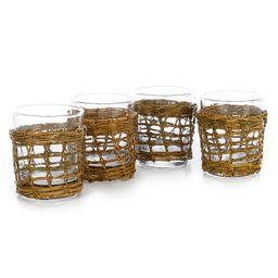 Bali Double Old Fashioned Glasses, Set of 4   Dillards