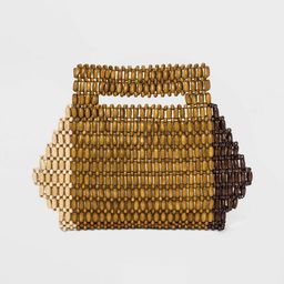 Magnetic Closure Colorblock Wooden Bead Clutch - A New Day™ | Target