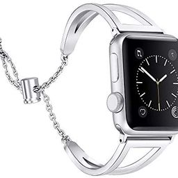 Secbolt Bands Compatible with Apple Watch Band 38mm 40mm iWatch SE Series 6/5/4/3/2/1, Women Dres... | Amazon (US)