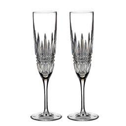Lismore Diamond Crystal Champagne Flute Pair   Dillards