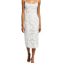 Monique Lhuillier Lace Midi Dress | Neiman Marcus