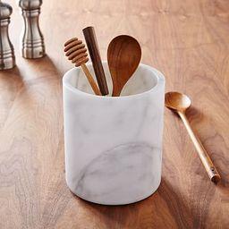 White Marble Kitchen Utensil Holder | West Elm (US)