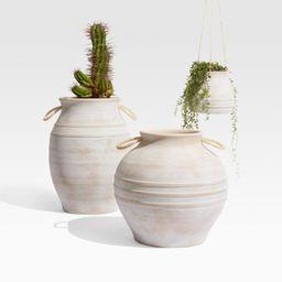 Elvy Ceramic Indoor/Outdoor Planters   Crate and Barrel   Crate & Barrel