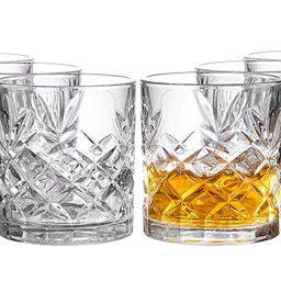 Royalty Art Kinsley Lowball Whiskey Glasses, 8 Pc. Set, 10.6 ounce Short Drinking Glassware for L...   Walmart (US)