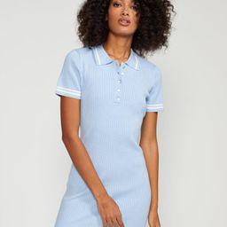 Aqua Rib Knit Mini Dress | Cynthia Rowley