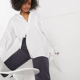 ASOS DESIGN super oversized relaxed cotton dad shirt in white | ASOS (Global)