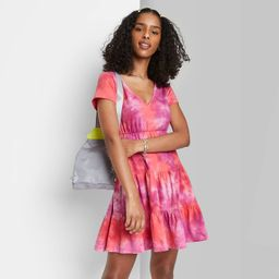 Women's Short Sleeve Tiered Knit Babydoll Dress - Wild Fable™   Target