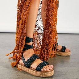 Nadia Ruched Wrap Sandals   Free People (US)