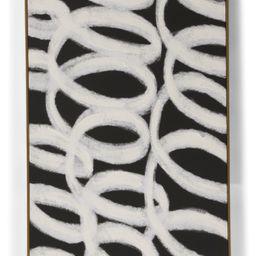 24x36 Black Loop Abstract Wall Art | TJ Maxx