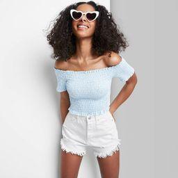 Women's High-Rise Frayed Hem Jean Shorts - Wild Fable™ | Target