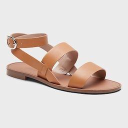 Leather 3-Strap Sandal   Banana Republic (US)