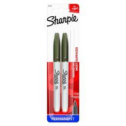 Sharpie Fine Tip Permanent Markers, Black, 2ct | Target