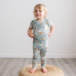 Gray Sweet Treats Two-Piece Short Sleeve Bamboo Viscose Pajama Set | Little Sleepies