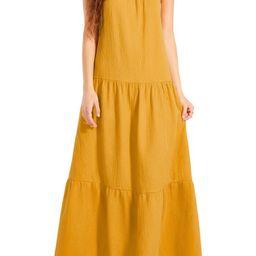 Arianna Sleeveless Tiered Cotton Maxi Dress | Nordstrom