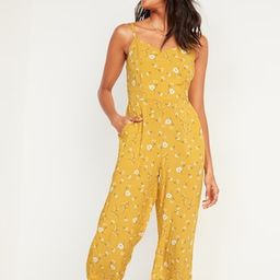 Floral-Print V-Neck Sleeveless Cami Jumpsuit for Women   Old Navy (US)