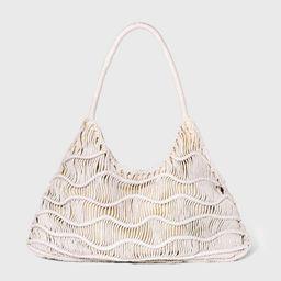 Zig Zag Snap Closure Soft Hobo Handbag - Universal Thread™ | Target