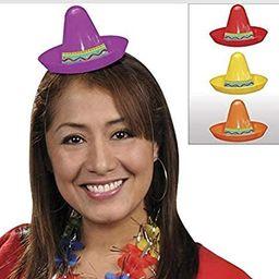 amscan Fiesta Cinco De Mayo Plastic Mini Sombreros, 8 Ct.   Party Accessory   Amazon (US)