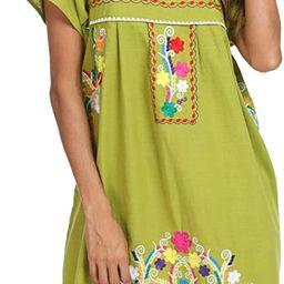 YZXDORWJ Women's Casual Skirt Boho Mexican Peasant Dresse Plus Size XXL Dress   Amazon (US)
