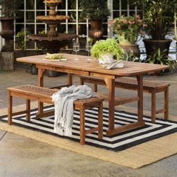 Manor Park Wooden Picnic Table with Umbrella Hole, Multiple Colors and Styles | Walmart (US)