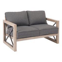Better Homes & Gardens Remsen 2-Piece Patio Loveseat Set with Gray Cushions | Walmart (US)