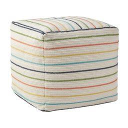 "Better Homes & Gardens 16"" x 16"" x 16"", Stripe Outdoor Pouf, Multi-color | Walmart (US)"