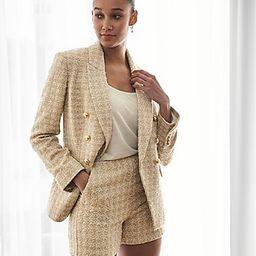 High Waisted Metallic Tweed Shorts | Express
