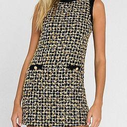 Endless Rose Metallic Tweed Mini Dress | Express