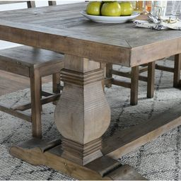 North Reading 39.4'' Pine Solid Wood Trestle Dining Table | Wayfair North America