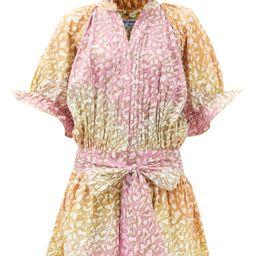Snow-leopard tie-dye belted cotton mini dress | Matchesfashion (Global)