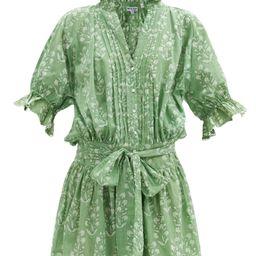 Ruffled floral-print cotton blouson dress | Matchesfashion (Global)