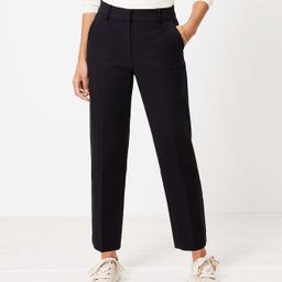 Perfect Straight Pants in Stretch Double Weave   LOFT
