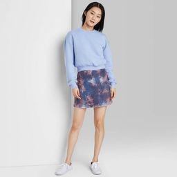 Women's Seamed Denim Mini Skirt - Wild Fable™ | Target