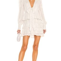 HEMANT AND NANDITA Veda Quilted Dress in Off White from Revolve.com | Revolve Clothing (Global)