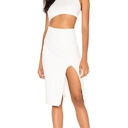 superdown Amira Cut Out Dress in Ivory from Revolve.com | Revolve Clothing (Global)