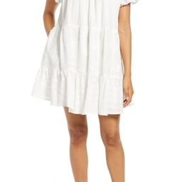 Embroidered Floral Cotton Babydoll Minidress | Nordstrom