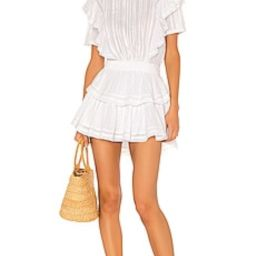 LoveShackFancy Natasha Dress in White from Revolve.com | Revolve Clothing (Global)