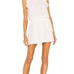 1. STATE Flutter Sleeve Smocked Neck Dress in Soft Ecru from Revolve.com | Revolve Clothing (Global)