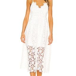 ASTR the Label Lace A Line Midi Dress in White from Revolve.com | Revolve Clothing (Global)