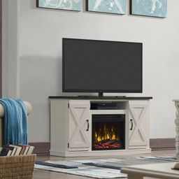 """Lorraine TV Stand for TVs up to 55"""" with Fireplace Included   Wayfair North America"""