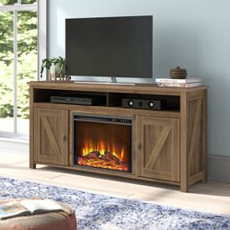 """Whittier TV Stand for TVs up to 65"""" with Fireplace Included 